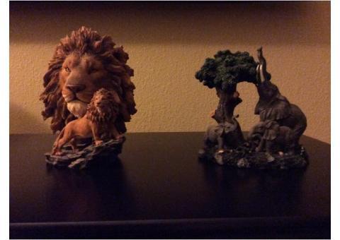 House decoration- Safari animal heads