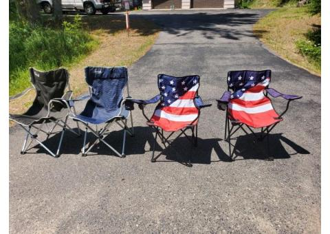 4 outdoor folding chairs
